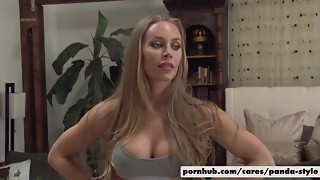 Nicole Aniston & Lucas Decorate Panda Fashion