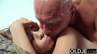 Pretty Youthful Dame Throatful Of Jism And Rectal Hookup With Granddad Meatpipe