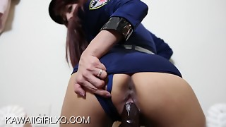 Officer D.Va And Her Big black cock Orgasming Fuck stick - Point of view Internal ejaculation And Large Facial cumshot