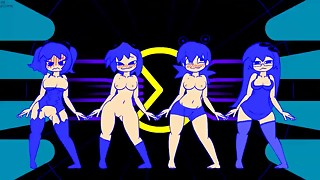 Minus 8, Pinky Blinky Clyde and Inky Dancing. Naked Version