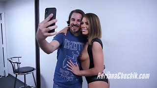 Adriana Chechik's Admirer Blowbang Bts from 2017-12-11.
