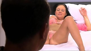 Mummy Big-chested housewife needs her gash gobbled