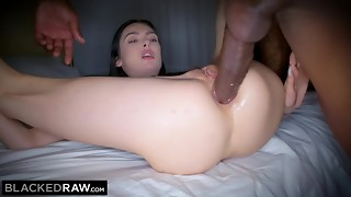 BLACKEDRAW Canadian gf takes giant big black cock in her bootie