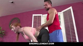 SheWillCheat - Warm Bodacious Gunger Wifey Nailing Private Trainer