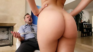 BANGBROS - Phat ass white girl Step Daughter-in-law Aidra Fox Takes Manage Of Dad
