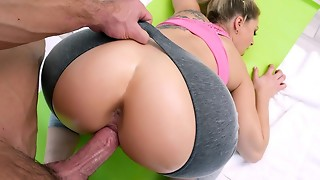 TeamSkeet - Phat ass white girl Gets Poked By Trainer