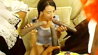 Ebony Monster Hard-ons Smashing Milky Dolls #3
