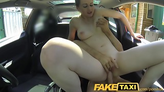 FakeTaxi Posh gal pays fine money for a poke
