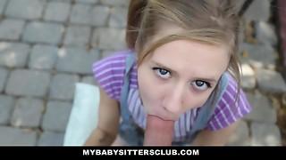 MyBabySittersClub - Smallish Childminder Caught Milking