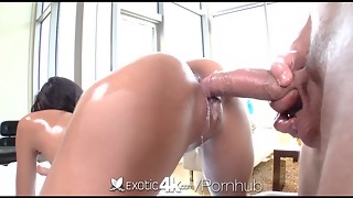 Greased assets and cunt showered with spunk for Chloe Amour - Exotic4K