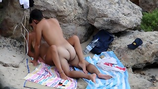 Youthful duo gets caught boinking on the beach - Part 3: missionary stance