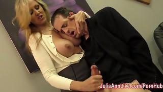 Julia Ann Masturbates Stepson before his Date!
