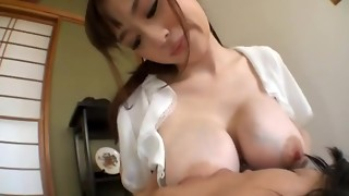 Japanese Breastfeeding and And Deepthroating Stroking Off a fortunate junior guy 3