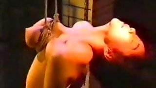 Asian Damsel is Ferociously Tantalized and Draped By Her Titties