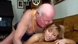 Grandfather Pokes His Teenager Call girl for Cash