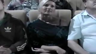 Nikki Fondled In The Cinema
