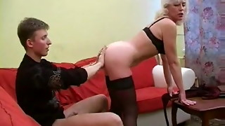 Grandmother Inga with Saggy Funbags Gets Nailed by snahbrandy