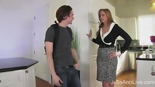 StepMom Julia Ann Bangs Stepson in Ass!