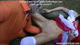 Hotkinkyjo aggressive rectal handballing in the woods and rosebud