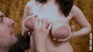 titsucking lactating boobs. thick areolas leaking mother milk