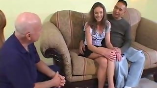 Pretty and thin wifey gullet drilled and banged