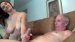 Female Gives Not Her Uncle a hand job WF