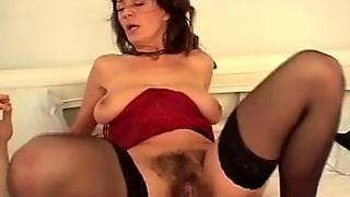 pumping out mature furry black-haired