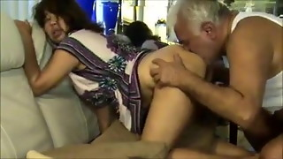 Sloppy Elder Uncle Bangs & Gobbles Fur covered Indian Lady's Bum