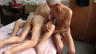 Chinese Grandfather 3 with mature dame