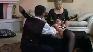 Nymph and maid strapped and fisted
