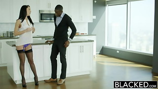 BLACKED Hubby Does Not Know Wifey Sabrina Banks Enjoys Big black cock