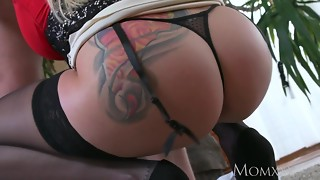 Mother My brother's mischievous towheaded fat bumpers wifey throated and penetrate