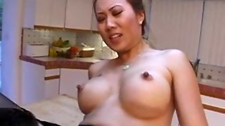 Asian assistant Sin Nye Lang romps milky guy