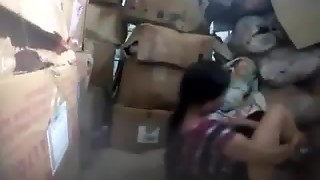 Manager banging nepali employee in store apartment
