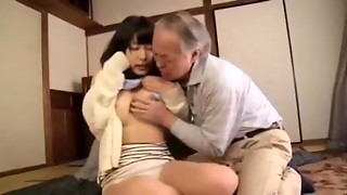 NSPS 269 MusumeHara Chigusa and Grandfather Enjoy it !