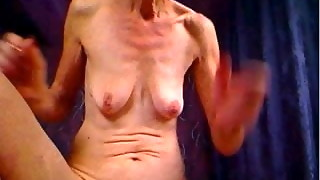 Gross Grandma POSES FOR Webcam AND Pulverizes Butt