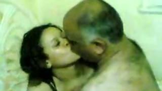 elderly guy pummeling a youthful female
