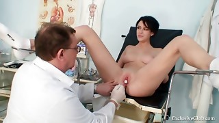 Big-titted princess wicked gynecology medic examination