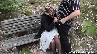 Slutwife pulverized by strangers in parking sphere