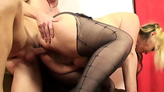 He humps his gfs mummy in stocking