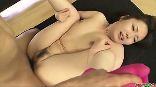 Super-naughty Haruka Oosawa in hard-core gang sex!
