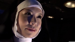 Subtitled HD Chinese college girl spies girl/girl nuns
