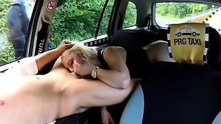 Strangers Voyeurs Seeing Czech Cab car in activity
