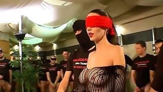 German Goo Nymphs - Eyes covered Mummy mass ejaculation gang-bang