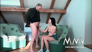 Insatiable granddad luvs to nail a nice youthful nubile