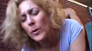 Filthy aged spunker Dana likes the taste of jizz