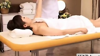 Subtitled pallid Japan brief hair mummy glamour lube rubdown