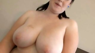 Unexperienced Plus-size Pulverizing And Pumping On Top Point of view