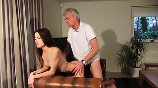 Elder and Youthful Porno - Sitter puss smashed by elderly dude
