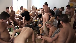 Soiree Gals Blowing and Pulverizing their Buddies